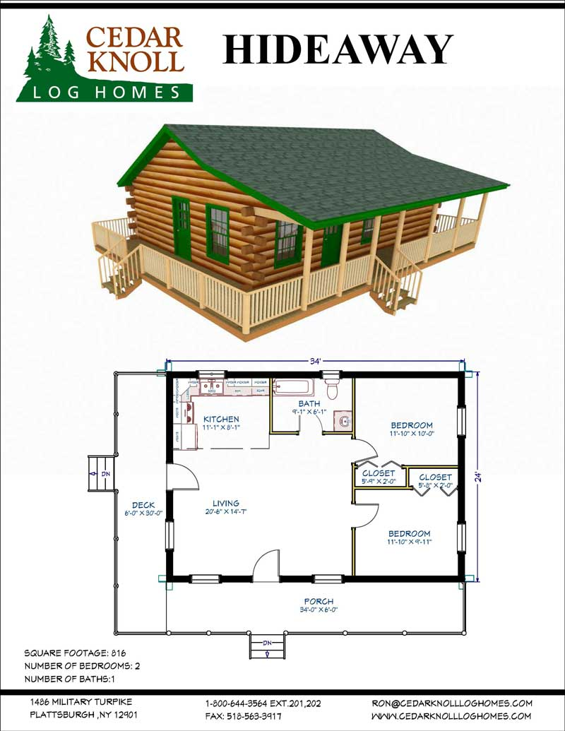The Hideaway log cabin kit