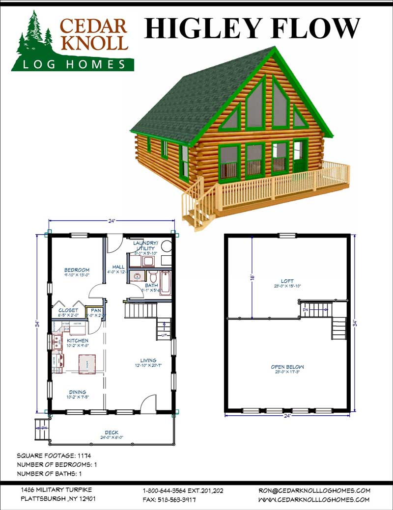 The Higley flow log home kit