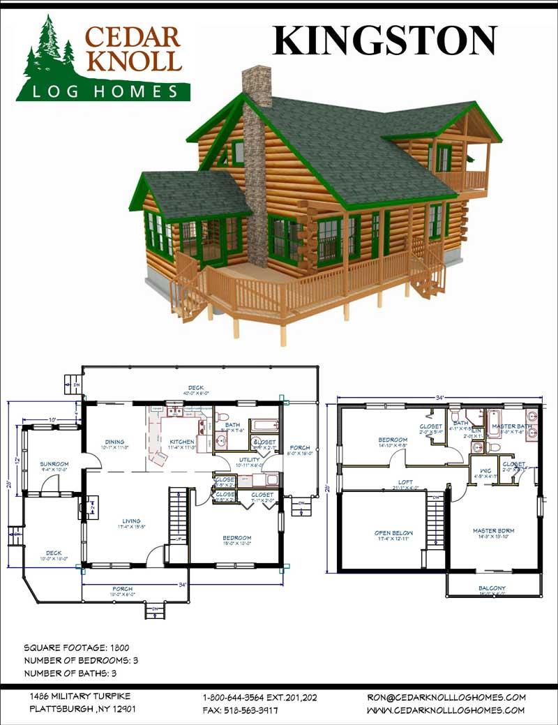 The Kingston Log Home Kit
