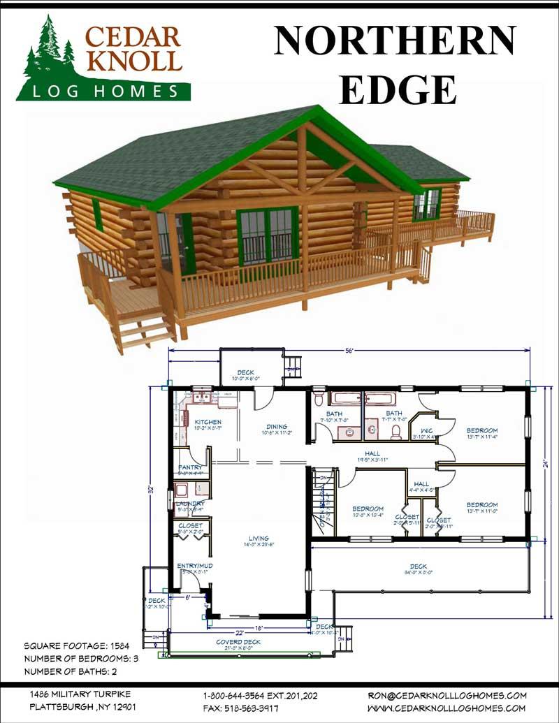 Northern Edge Log Home Kit