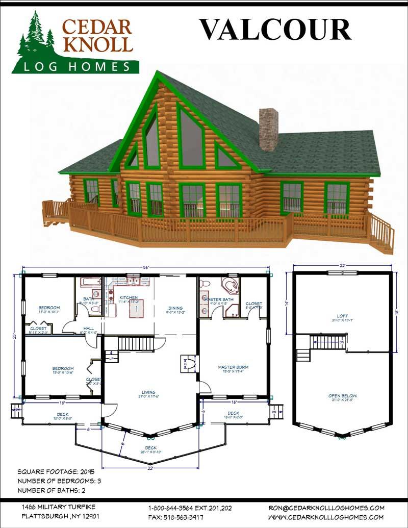The Valcour Log Home Kit