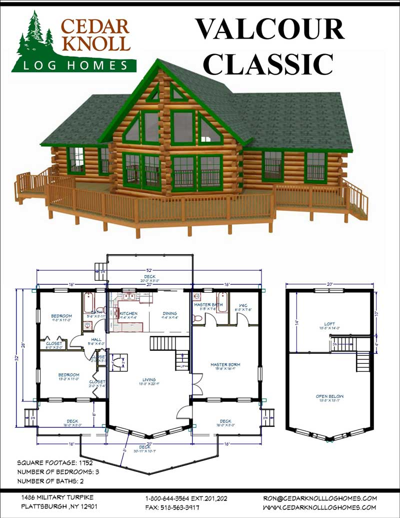 The Valcour Classic Log Home Kit