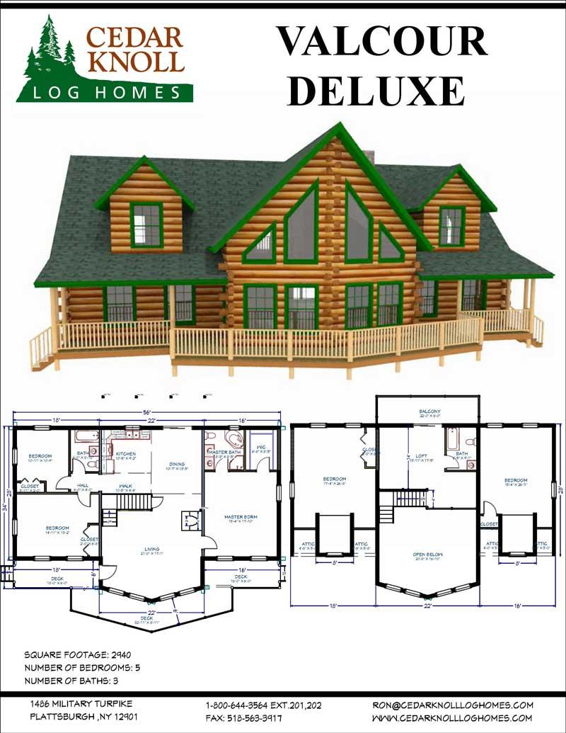 Valcour Deluxe Log Home Kit