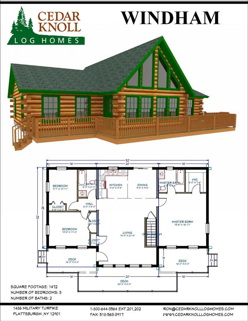 The Windham Log Home and Cabin Kit