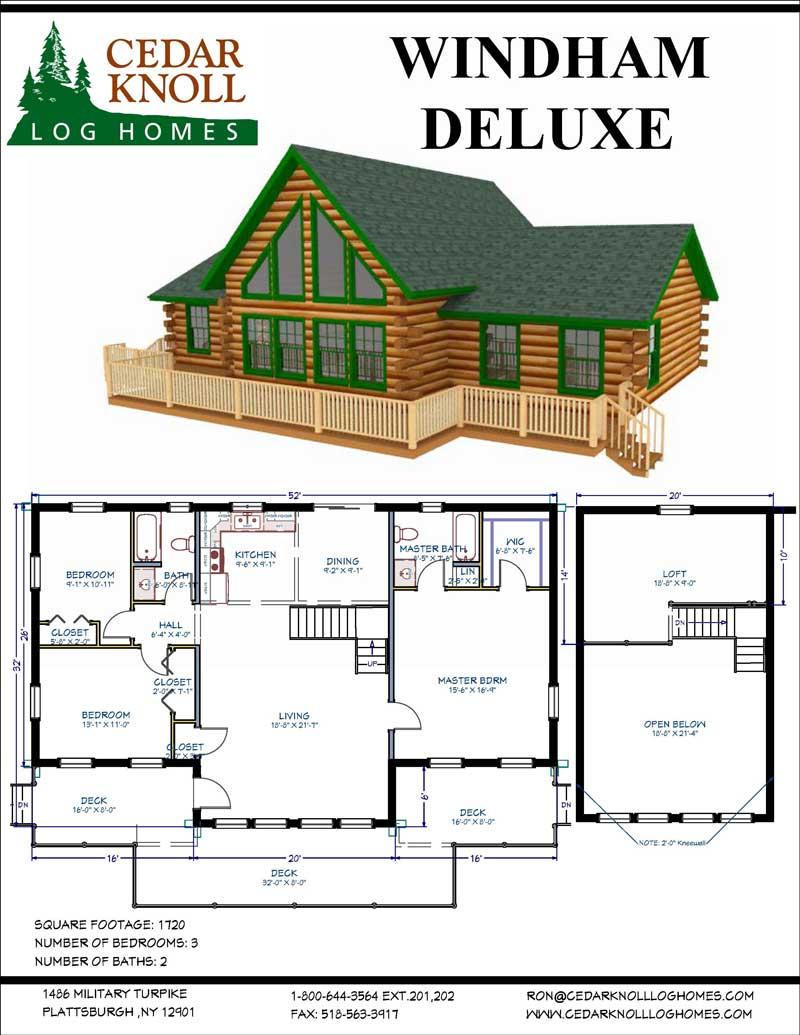 Windham Deluxe log cabin kit