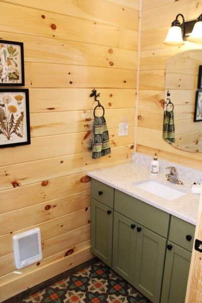 bathroom-in-a-log-home-kit