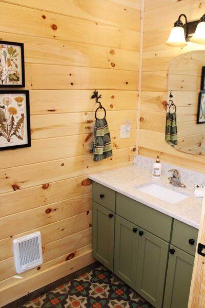 bathroom-in-a-log-home-kit