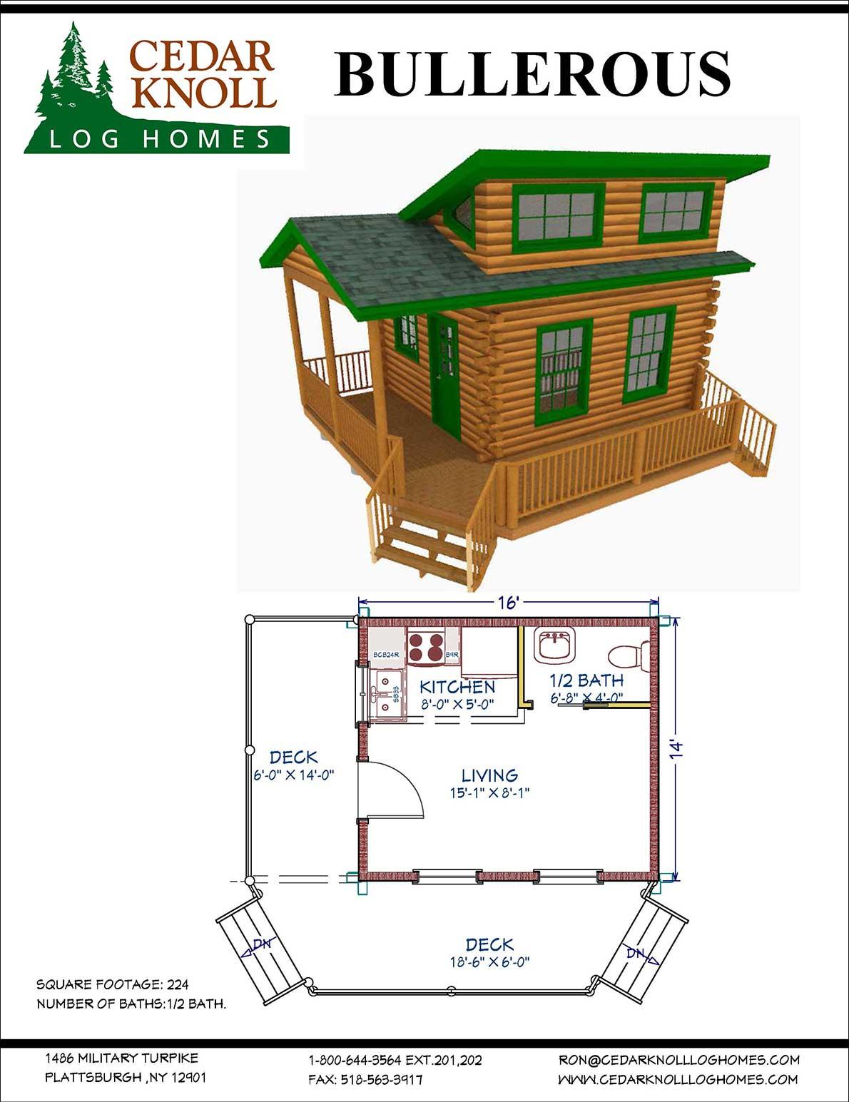 Bullerous Log Camp or Home Kit
