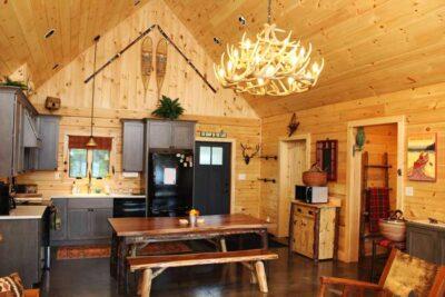 custom log home kitchens