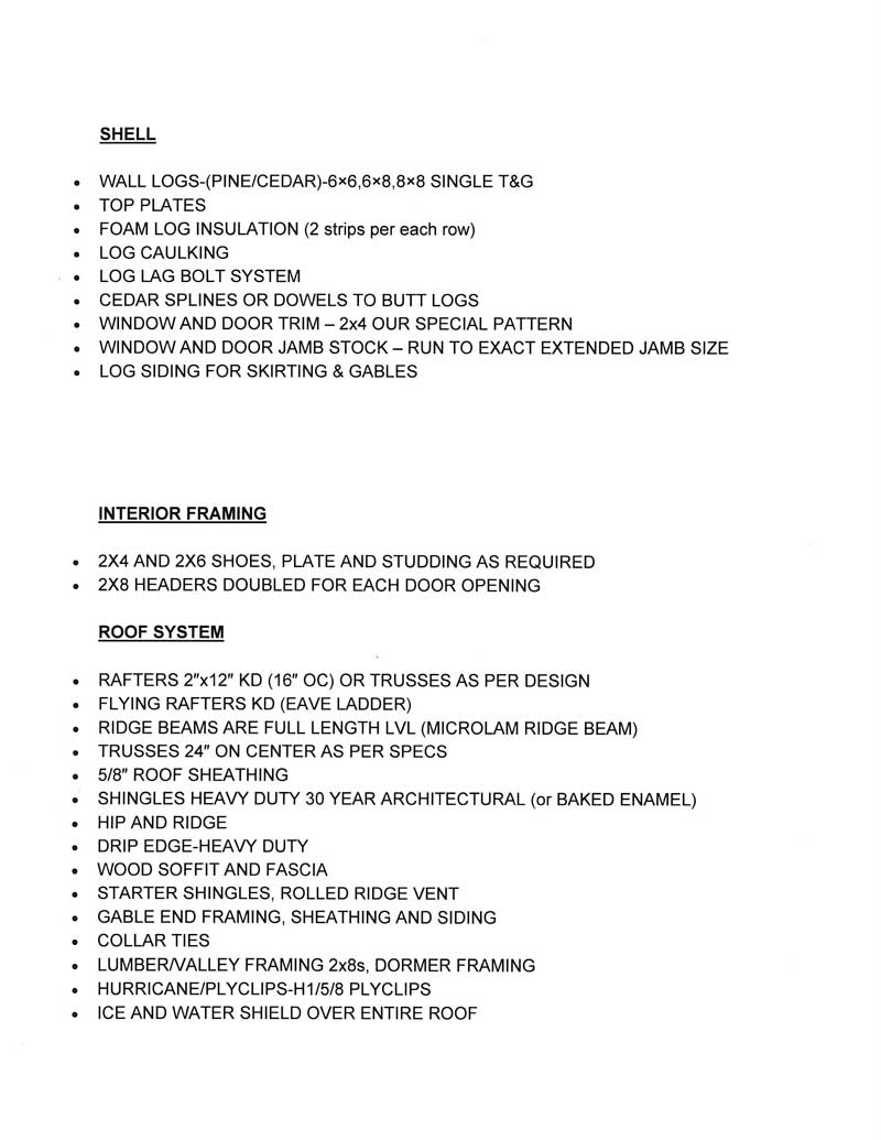 material list