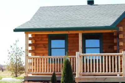 custom Adirondack log railings
