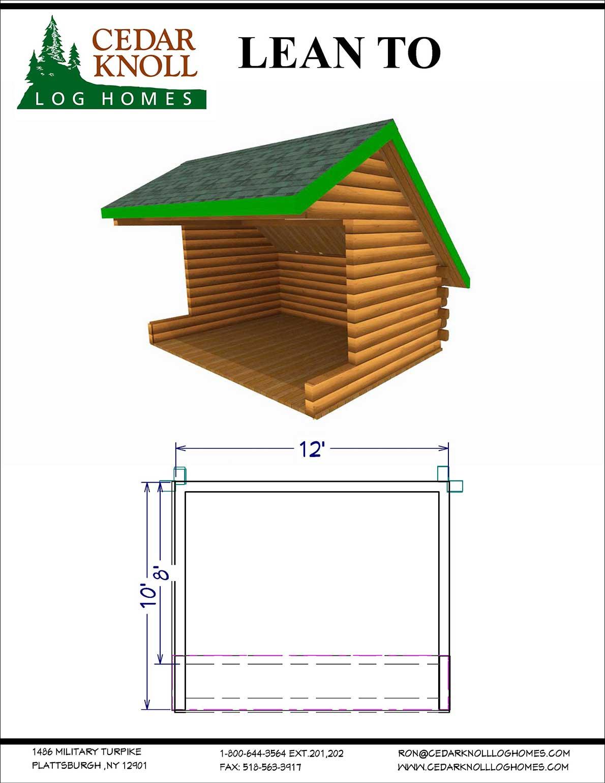 Log Lean-to kit
