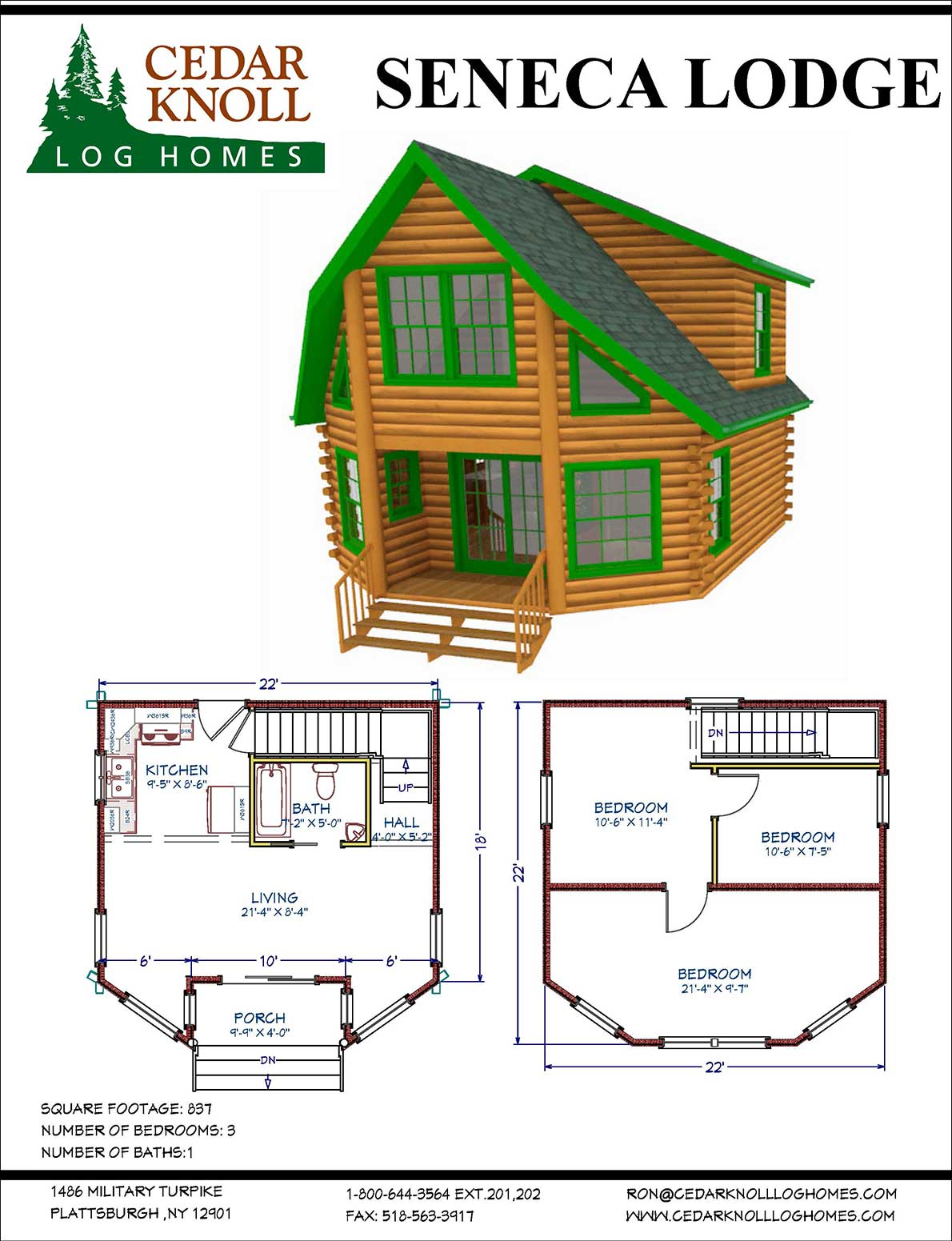 Seneca Log Lodge Home or Camp Kit