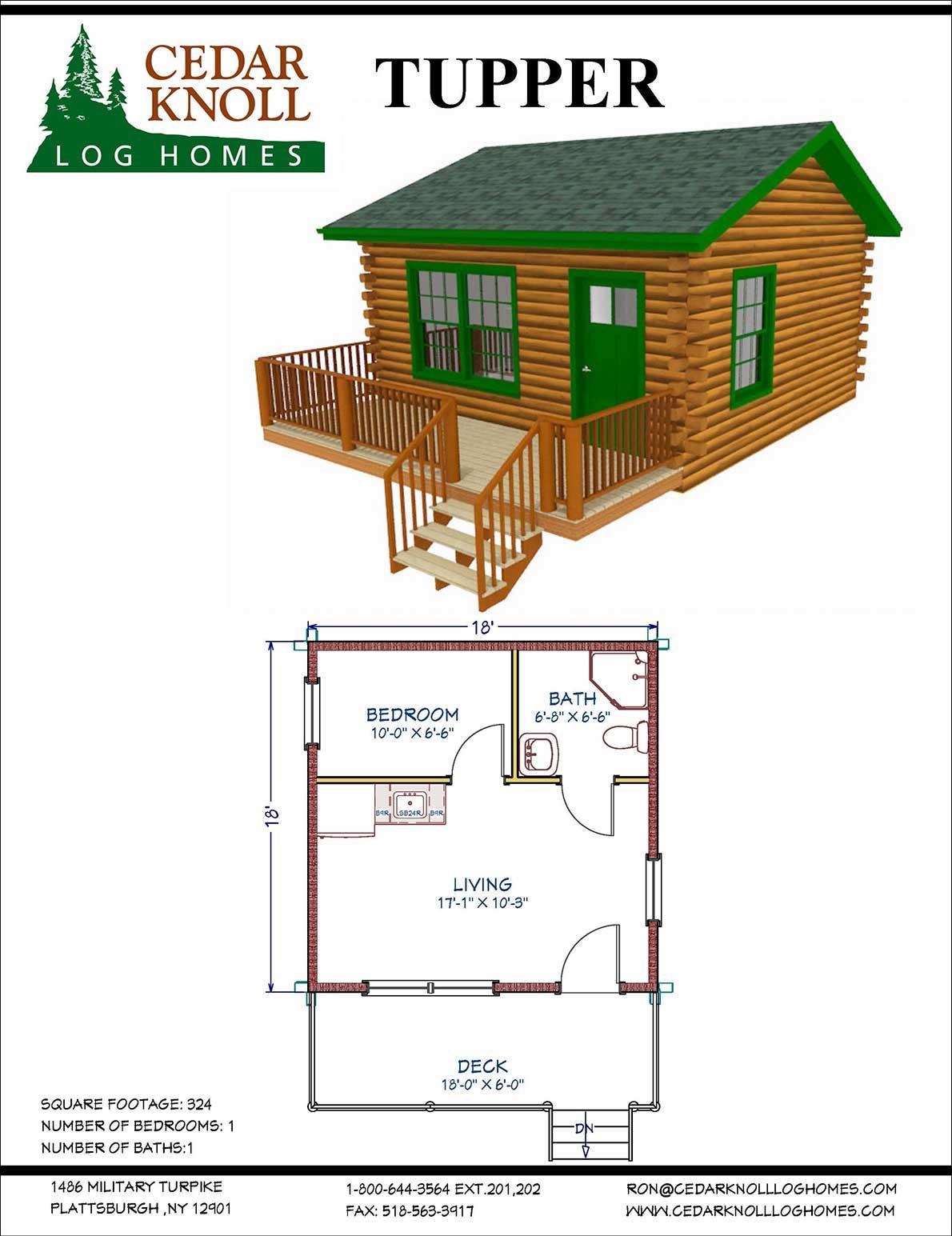 Tupper log home or camp kit