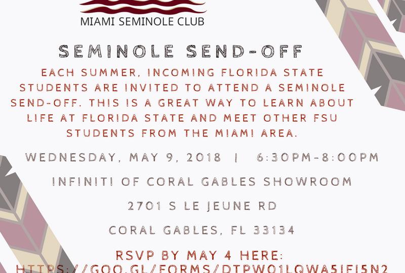 Seminole Sendoff 5-9-18