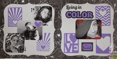 Living in Color - Double Scrapbook Layout