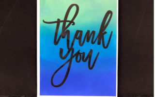 Thank you card using Pink & Main's Ergonomic Blending Brushes