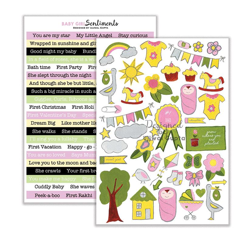 Baby Girl Design Element