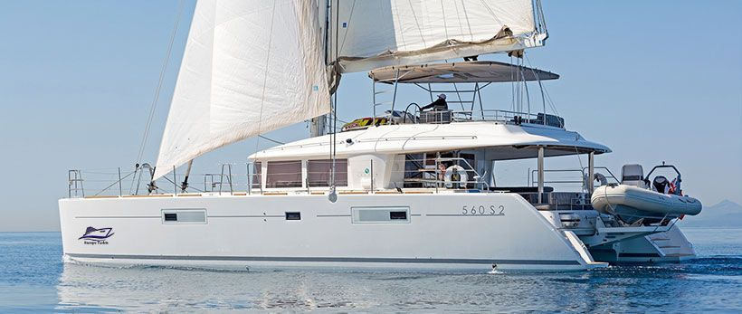 Lagoon 560 Luxury Crewed Catamaran Charter Greece