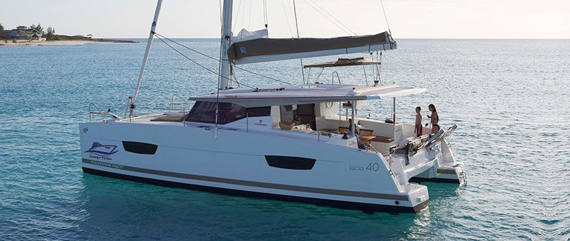 Fountain Pajot Lucia 40 Catamaran Charter Greece