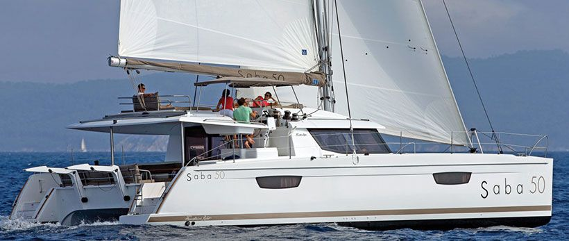 Saba 50 Catamaran Charter Greece