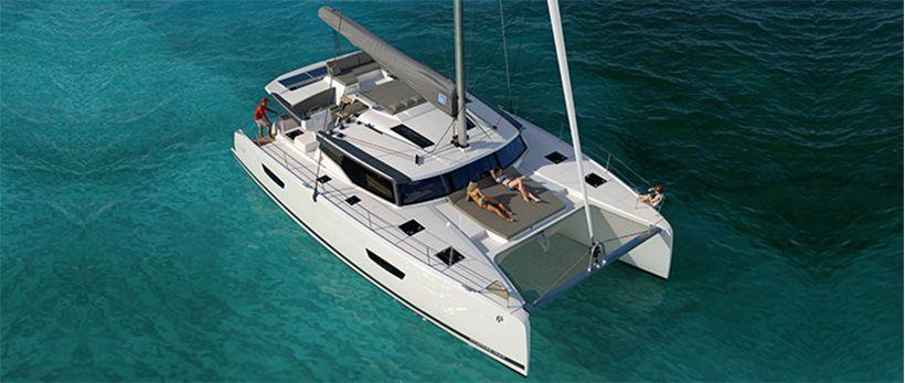 Fountaine Pajot Saona 47 Quintet Catamaran Charter Greece