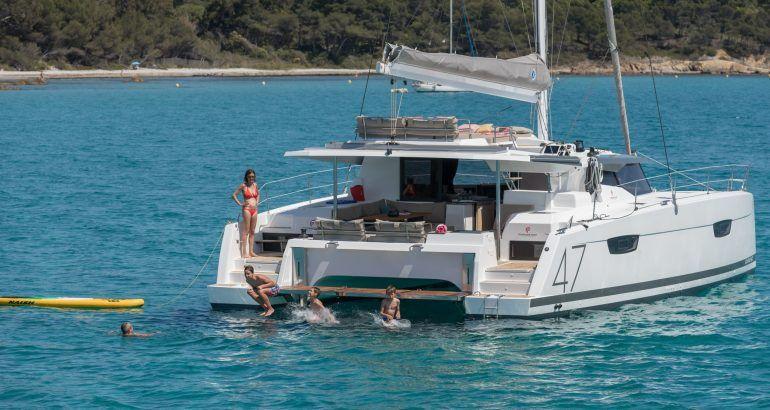 Fountain Pajot Saona 47 Catamaran Charter Greece