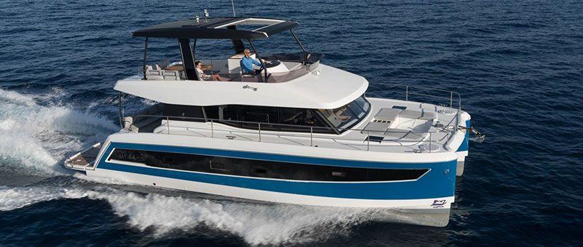 Fountaine Pajot MY 44 Power Catamaran Charter Greece Main