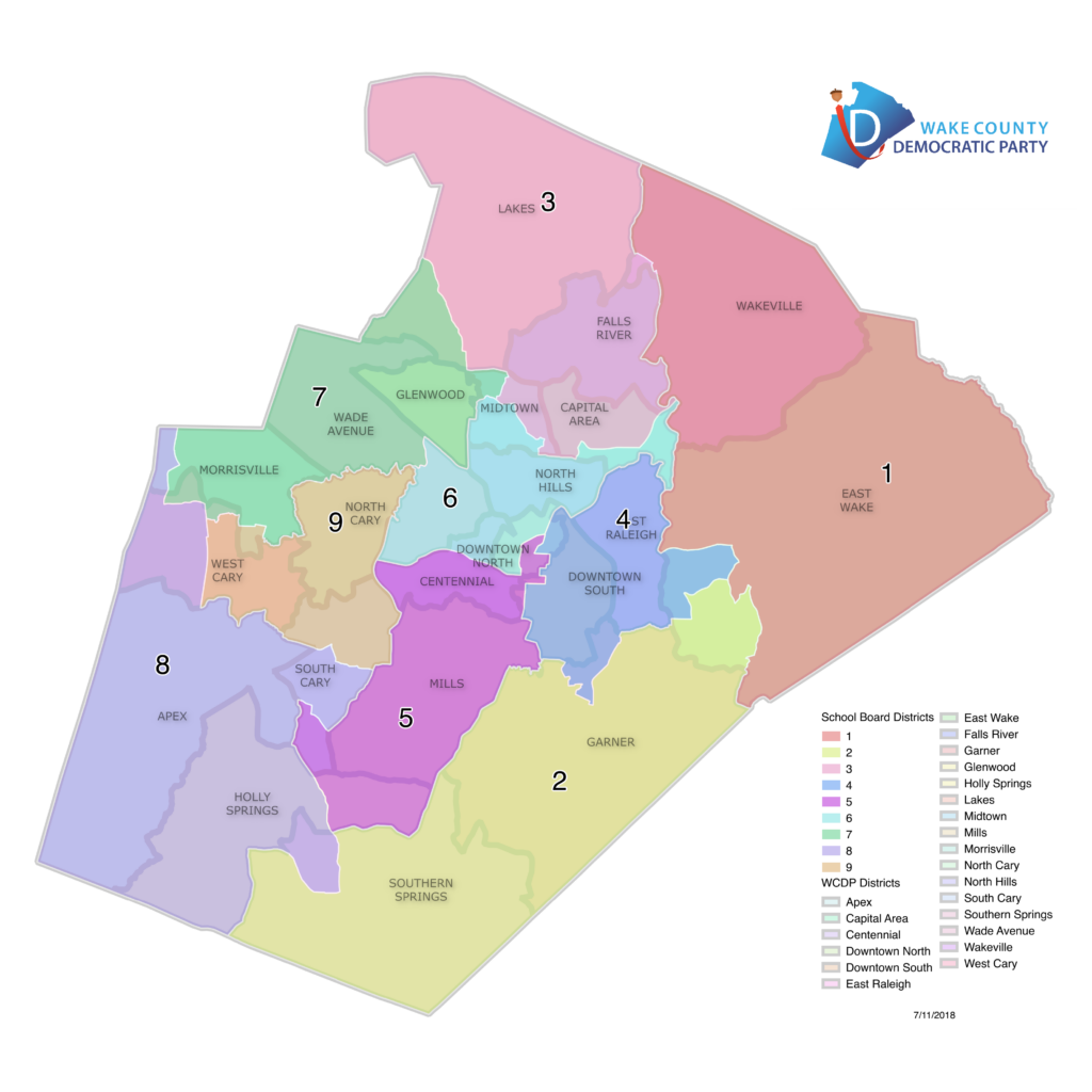 Wake County School Board District 7 Map