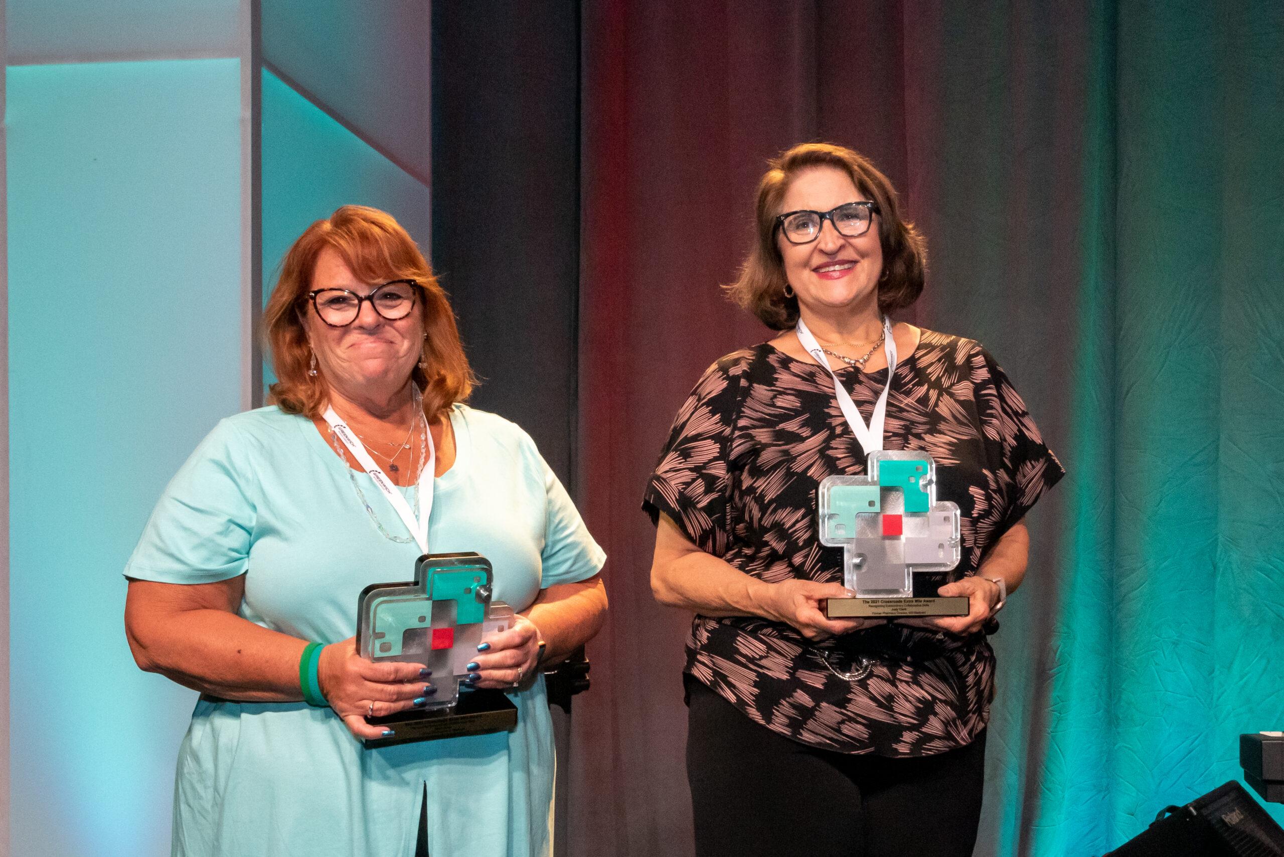 Sheri Dolan and Judy Clark - Extra Mile Award Winners at Artia Crossroads 2021