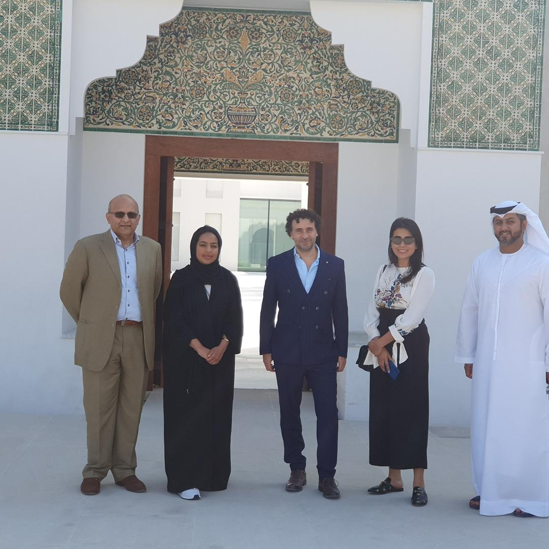 Welcoming Ralph Heimans back in the UAE for the 3rd time since 2005 when he came to deliver 'The Dialogue'. Today as guests of the Ministry of Culture & Knowledge Development and Department of Culture and Tourism Abu Dhabi, we visited the Cultural Foundation Theatre and Qasr Al Hosn and were awestruck by the depth and detail of the history of the UAE that has been captured and preserved here.