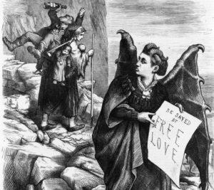 Cartoon by Thomas Nast depicting Victoria Woodhull as Satan