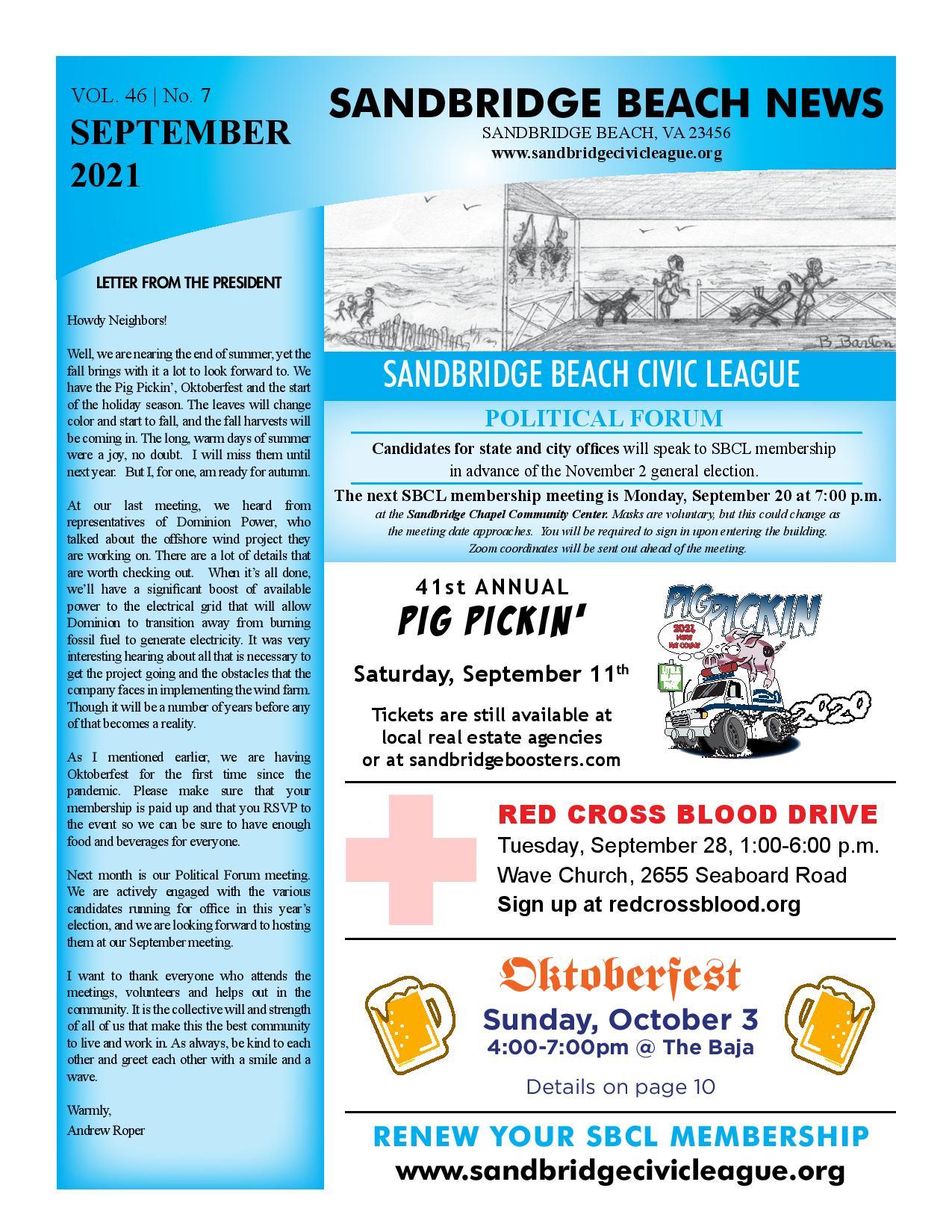 SBCL Newsletter Sept 2021