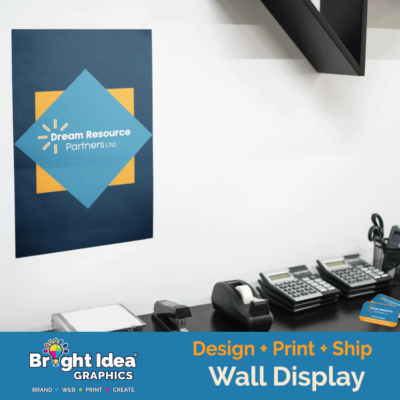 Dream_Resource_Partners_wall_display_bright_idea_graphics