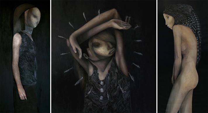 """Spirit Crusher"" triptych, Dante Horoiwa"