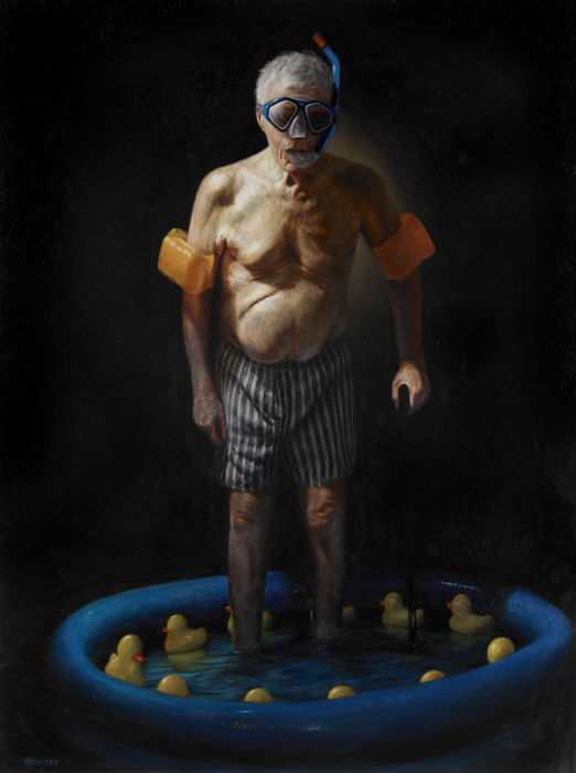 """""""The Bather,"""" Jason Bard Yarmosky, oil on linen 48""""x36"""" private collection"""