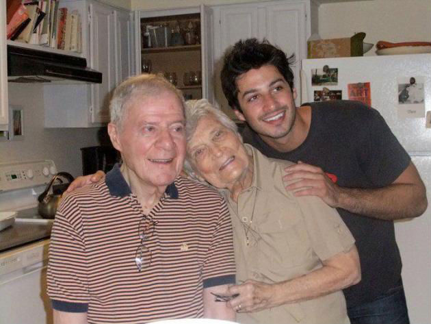 New York artist, Jason Bard Yarmosky, with grandparents, Len and Elaine.