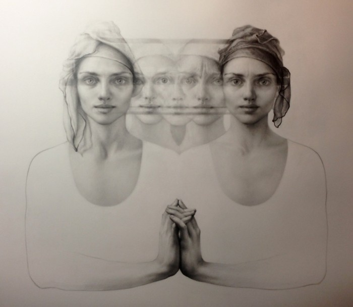 Shamans and Charlatans III | graphite on arches | private collection | Maria Kreyn