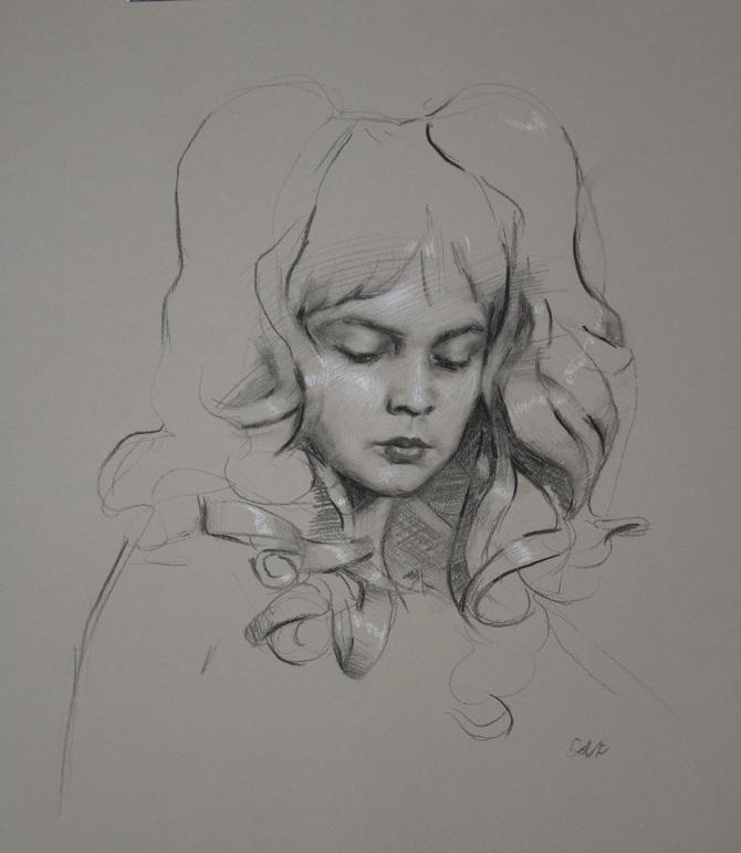 "Self Portrait | 19x22"" | charcoal on paper | 2014"