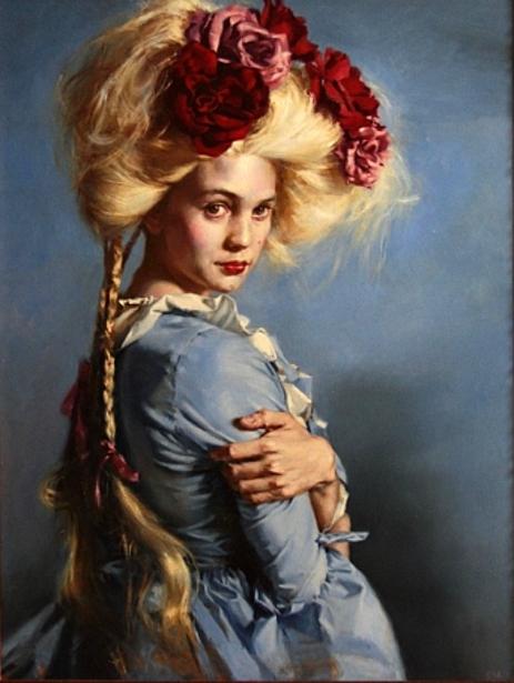 Self-Portrait in Blue | Teresa Oaxaca