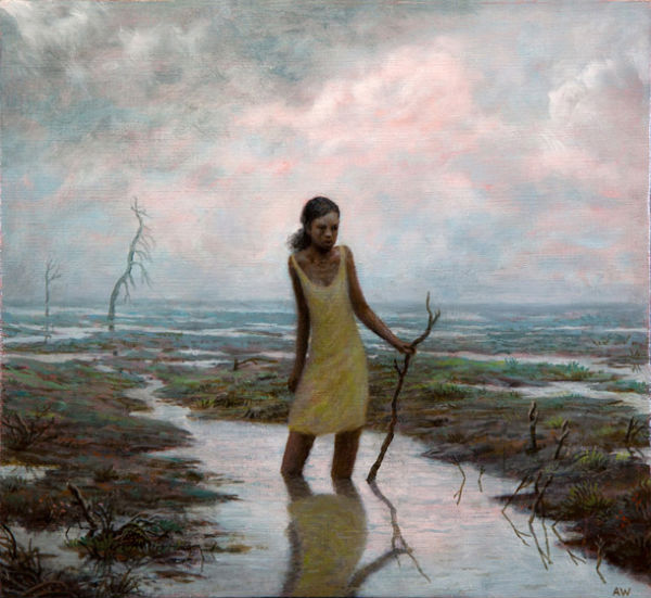 Delta | oil on canvas | 10 x 11 inches | 2012 | Aron Wiesenfeld