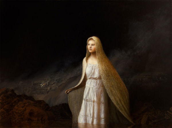 Heretic | oil on canvas | 32 x 43 | Aron Wiesenfeld