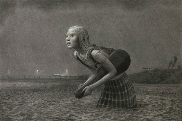 The Lesson | charcoal on paper | 33 x 50 inches | 2007 | Aron Wiesenfeld