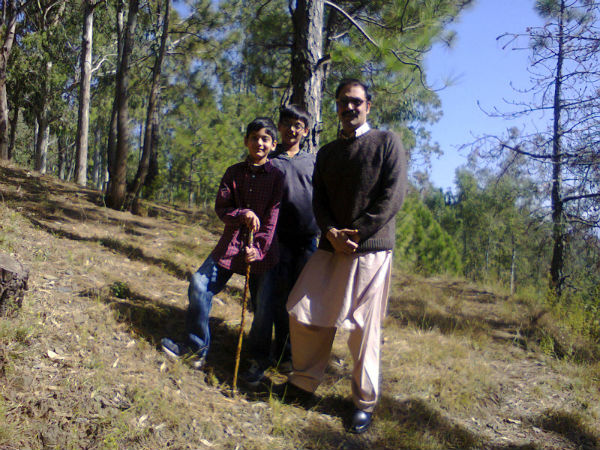 Omer Tarin and family hiking in the hills of Northwest Pakistan, 2012