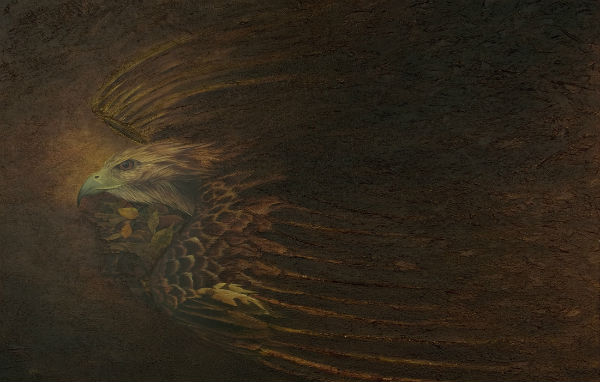 From Life To Death To Life | Oil on Board | 36 x 18 | Ajay Brainard