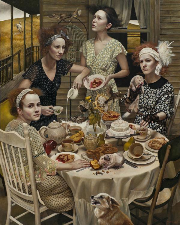 """An Invitation   60""""x48""""   acrylic on canvas   2013   Andrea Kowch"""