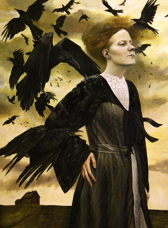 Crows Song   48x36   acrylic-on-canvas   Andrea Kowch