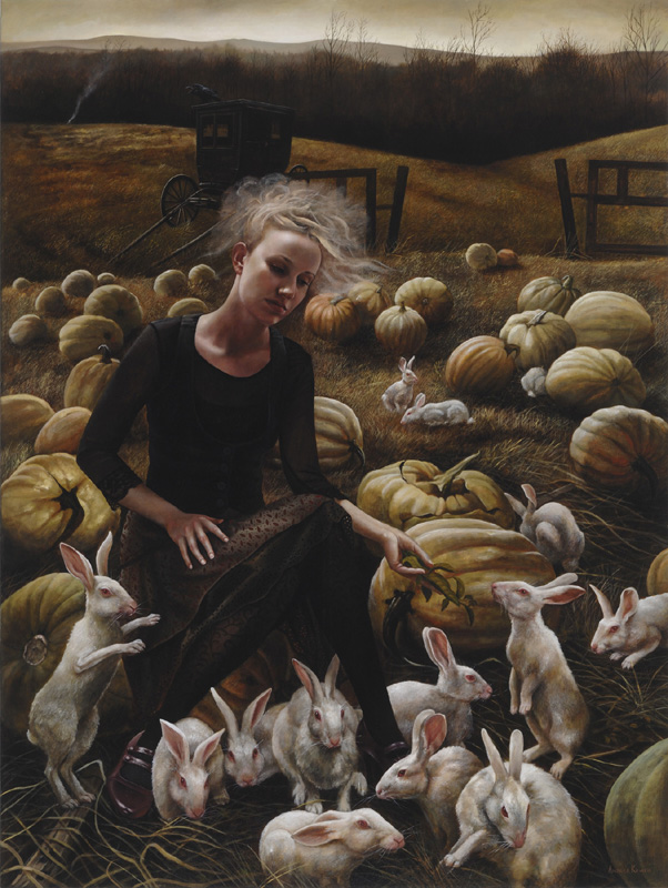 In the Hollow   48x36   acrylic-on-canvas   Andrea Kowch