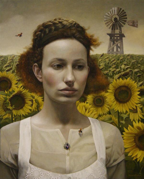Memory Weaver   30x24   acrylic-on-canvas   Andrea Kowch