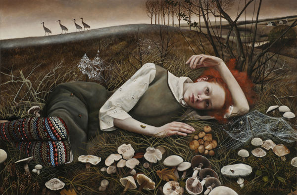 The Merry Wanderers   24x36   acrylic-on-canvas   Andrea Kowch